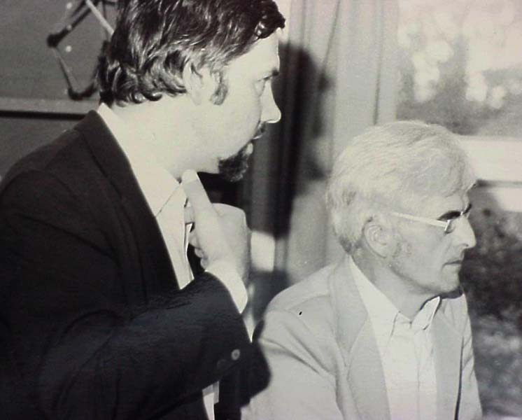 LSAA Founder Vinzenz Sedlak (L) with Frei Otto at the LSRU in 1980